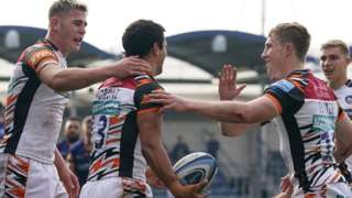 Leicester Tigers centre Matias Moroni scored the second of Tigers' three first-half tries