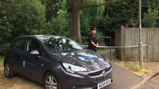 Police at scene of Abingdon stabbing