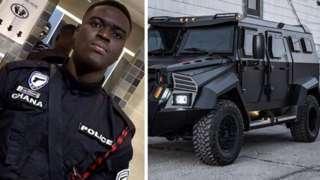 Ghana police officer killed and bullion van