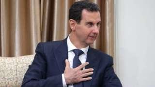 Image shows Syrian President Bashar al-Assad