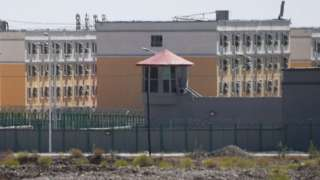 A suspected re-education camp where mostly Muslim ethnic minorities are detained, north of Kashgar in Xinjiang region