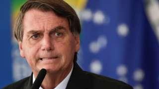 Jair Bolsonaro en Brasilia.