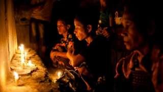 Sumba women perform rituals ahead of a cultural festival