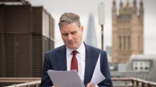 Labour leader Sir Keir Starmer before delivering speech on the future of the union