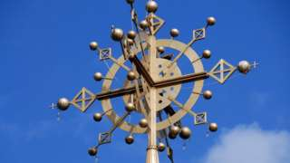 The cross at the top of Our Lady Mary of Zion Church in Aksu