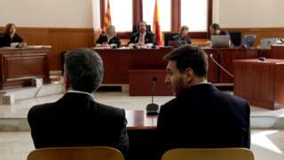 Messi and father in court