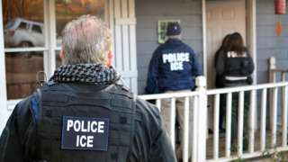 US Immigration and Customs Enforcement officers. File image