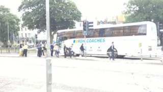 Coach collision in Brighton