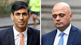 Rishi Sunak and Sajid Javid
