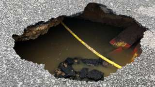 Hole in Lancaster Rd, St Albans