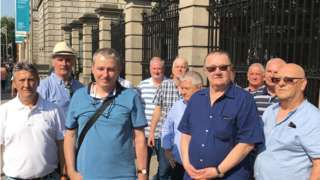 John Boland outside the Irish parliament with fellow campaigners