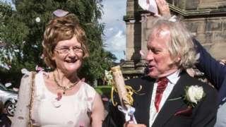 Madeleine and Bill on wedding day
