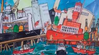 Mike Riches's sketch of Harwich