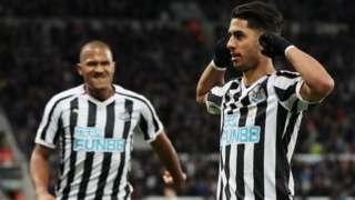 Newcastle Uniteds Ayoze Perez