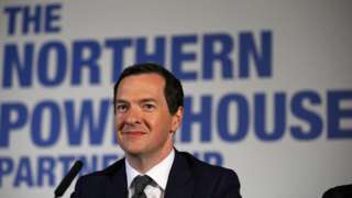 Mr Osborne at a meeting of the Northern Powerhouse Partnership in 2016