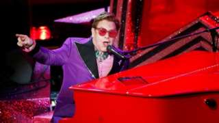 Elton John performs during the Oscars show at the 92nd Academy Awards in Hollywood, Los Angeles
