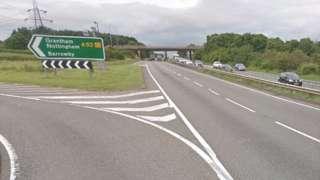 A1 at Barrowby, Lincolnshire
