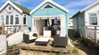 Beach hut for sale