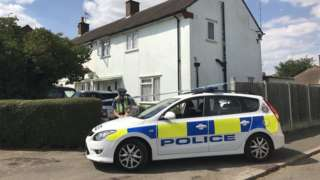 Police at Rochford Garden Way, Rochford