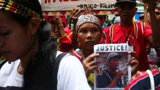 Lumad people protest in 2016