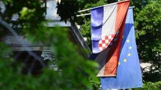 Zastava Hrvatske; Zastava EU