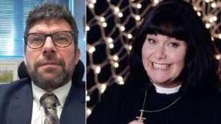 Alan Garnett and Dawn French as the Vicar of Dibley