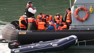 Migrants arriving at Dover