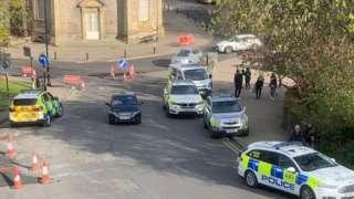 Police at Valley Gardens in Harrogate