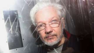"""WikiLeaks"""" founder Julian Assange leaves Westminster Magistrates Court in London, Britain January 13, 2020"""