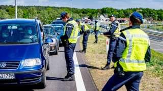 Hollanda'da sınır güvenliğinden sorumlu birlikler.