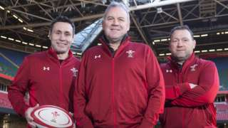 Wales coaches Stephen Jones, Wayne Pivac and Jonathan Humphreys