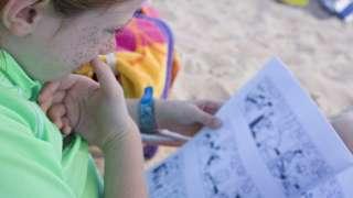 Girl reading a comic