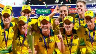 Australia celebrate winning the World Twenty20 title