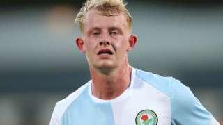 Willem Tomlinson in action for Blackburn