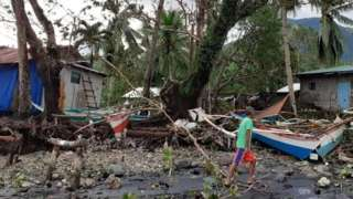 Storm debris in Biliran, Philippines, 26 December 2019. Vermalyn Maloloy-on Navarrete via Reuters