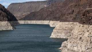 Lowe water levels in Lake Mead. Photo: 9 June 2021
