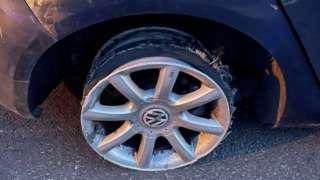Tyre on Volkswagen