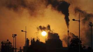 中国合肥的工业烟囱