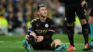 Manchester City's Aymeric Laporte
