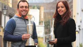 Francesco Molinari and Georgia Hall