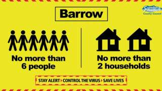 Barrow coronavirus information sign