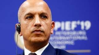 Ali Shareef al-Emadi, Qatar's finance minister, attends The St Petersburg International Economic Forum (SPIEF) in St Petersburg, Russia (6 June 2019)