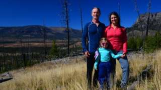 The Means family in the remotest spot in the United States lower 48