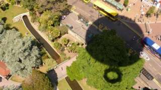 Shadow of Bournemouth balloon