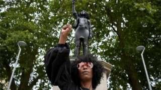 Jen Reid and the Edward Colston statue
