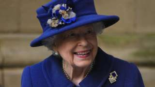 The Queen arriving at Westminster Abbey