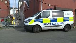 Police van on Smith Street