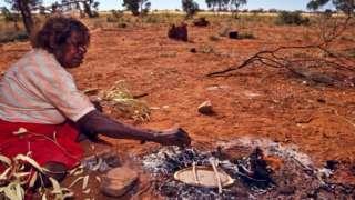 مقامی باشندوں کا روٹی پکانے کا انداز