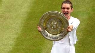 Simona Halep a remporté son premier titre à Wimbledon en battant Serena Williams en moins d'une heure.