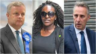 Chris Davies, Fiona Onasanya and Ian Paisley